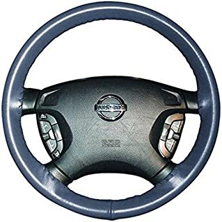 product image for Wheelskins Genuine Leather Sea Blue Steering Wheel Cover Compatible with Land Rover Vehicles -Size C