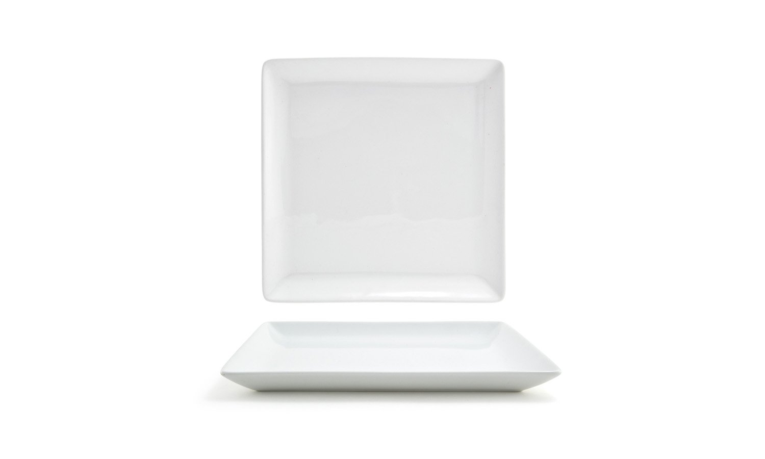 Front of the House DDP022WHP23 Mod Square Plate, 0.75'' Height, 10'' width, 10'' Length, Porcelain, White (Pack of 12)