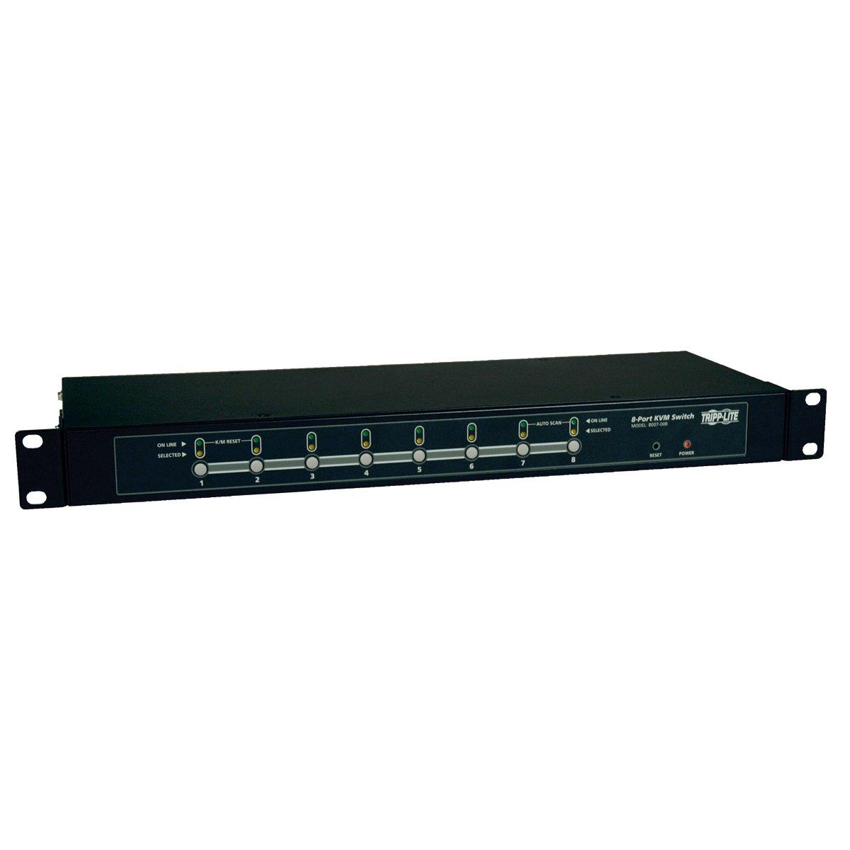Tripp Lite B007-008 8-Port 1U Rackmount KVM Switch with On-Screen Display