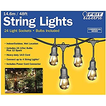 Feit Electric String Lights 12 Ft : Amazon.com: Weatherproof Commercial Heavy Duty Vintage Outdoor Patio Edison 21 Ft. String Lights ...