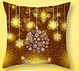 Snowlike Christmas Decoration,Christmas Pillow Case Glitter Polyester Sofa Cartoon Christmas Theme Party Pillow Covers