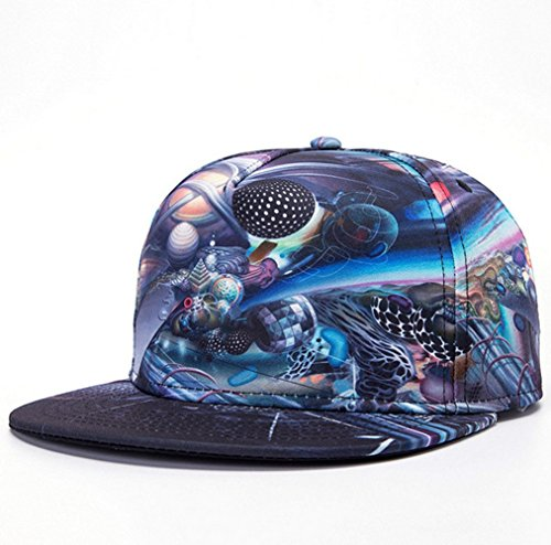KitMax (TM) Fashion Unisex Personalized Abstract Universe Thermal Transfer Hip Hop Outdoor Sport Baseball Snapback Sun Caps - Snapback Universe