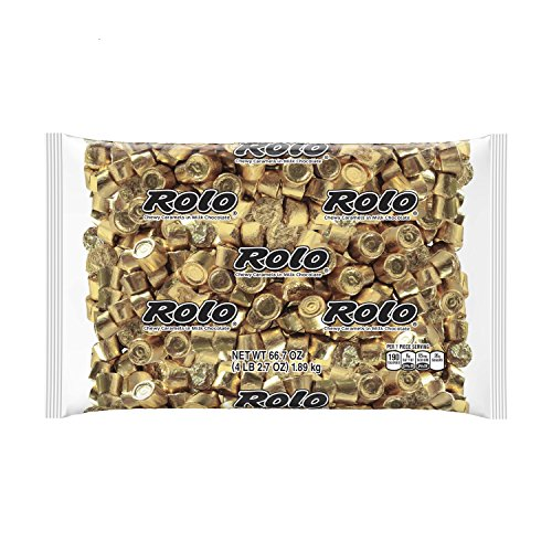 ROLO Holiday Chocolate Caramel Candy, 4.1 Pounds Bulk Candy Gift