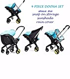 4 Pc Doona Accesory Set - Rain cover, Sunshade, Insect Net & Snap-on Storage