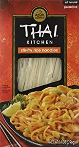 Thai Kitchen Gluten-Free Stir Fry Rice Noodles, 14 Oz (Pack of 6)