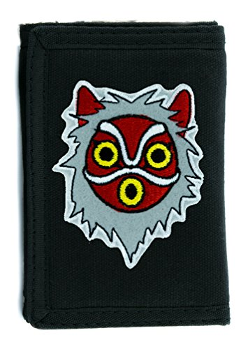 Princess Mononoke San Wolf Mask Tri-fold Wallet Alternative Clothing Anime Cosplay ()