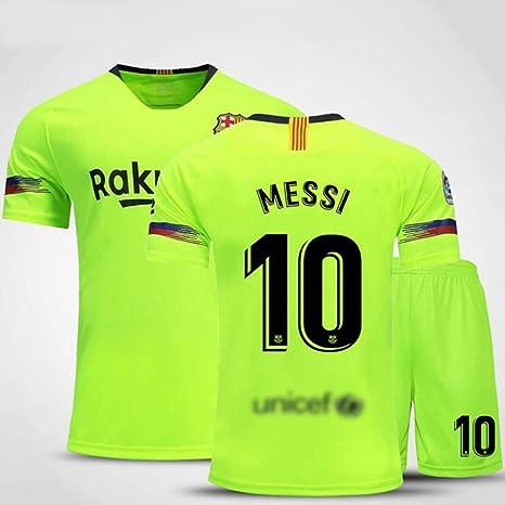 HS-HUWENHUI Club Barcelona # 10 Messi Green Traje De Fútbol ...