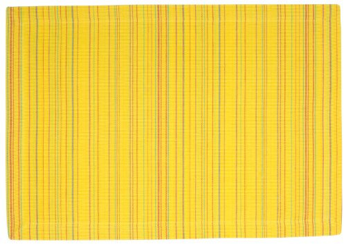100-Cotton-Yellow-Red-Striped-13x19-Placemat-Set-of-6-Piazza-Yellow