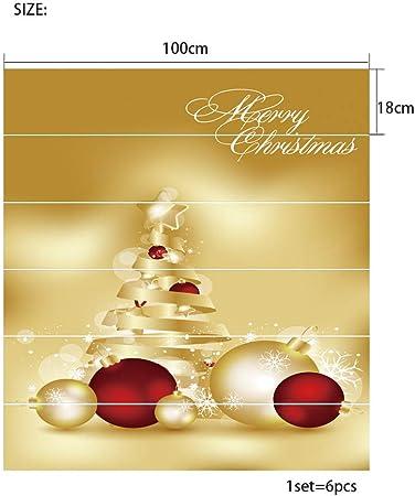 ZBFDLTTD Escalera Pegatinas MStair Stickers AutoadhesivoRenovación Impermeable DIY Navidad 2018 Vestir Creativas Pegatinas de Escalera Navidad Oro Campana PVC Pegatinas de Pared 100 * 18cm * 6: Amazon.es: Hogar