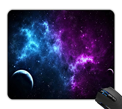 AntoinetteqrEE Mouse Pad Blue & Purple Galaxy Space Customized Non-Slip Rubber Mousepad Gaming Mouse Pad