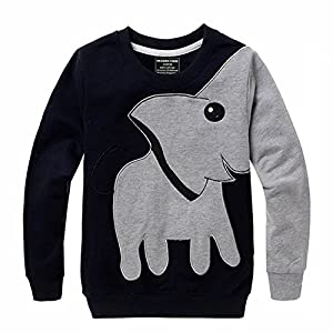 Toddler Animal Shirts, Elephant Nose Long Sleeve T Shirt Pajamas Sweatshirts