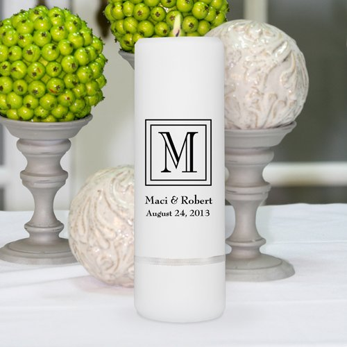 Personalized Unity Candle - Personalized Unity Wedding Candle - Wedding Gift - Monogrammed Unity Candle - 3''x 9''