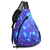 iColor Sling Bag – Small Crossbody Backpack 15L Sports Outdoor Multipurpose Crossbody Backpack with Phone/Bottle Sleeve Carrier for Men Women Kids Hiking Cycling Walking Dog Bicycle Trave (Blue Sky) Review