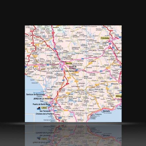 ESPAÑA Y PORTUGAL. Mapa Mural 140 x 100 cm.: Amazon.es: ALONSO ...