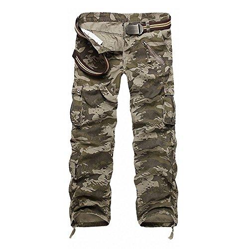 Casual Esecuzione Minetom Shorts Pantaloni nbsp;verde Release Uomo Stile In Militare 2 Camo Cargo Sportivi Da qq1FUwxXg