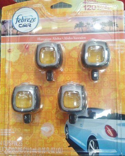 Febreze Car Clip Air Freshner Hawaiian Aloha Scent