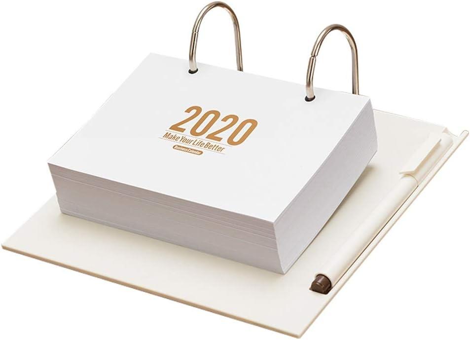 Calendario De Sobremesa/Calendario de Pared Calendario 2020 Calendario Creativo Simple desgarro Oficina de Escritorio Estudiante Fresca pequeña Nota de la Agenda 365 Días Plan Diario Ben ponche Bloc