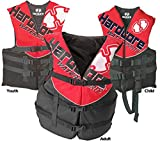 Hardcore Water Sports Child Life Jacket Vest – US Coast Guard approved Type III(ONE VEST INCLUDED) (Red)