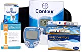 Bayer Contour Meter, 50 Contour Test Strips, 100 Slight Touch 30g Lancets, 1 Lancing Device and 100 Alcohol Prep Pads