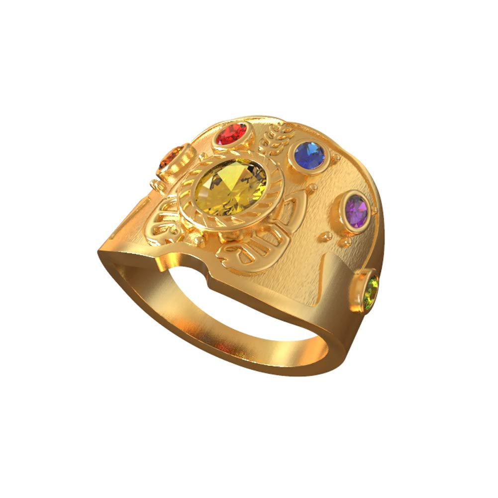 Jewlery Soul Stones Ring Golden Gauntlet Cosplay Costume Props Superhero Anime Accessory Avengers Thanos Ring Infinity War