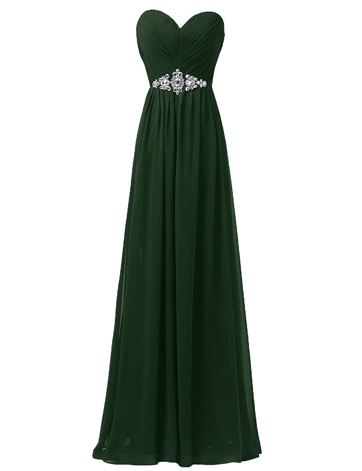 Sunvary Simple A-Line Sweetheart Neckline Chiffon Party Dresses Bridesmaid Gowns