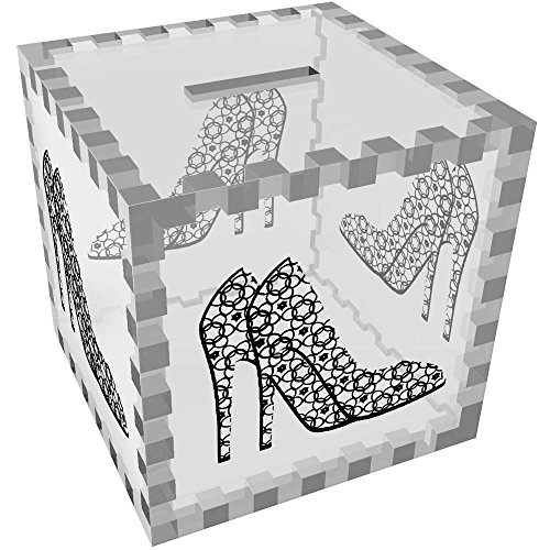 Azeeda 'Patterned High Heel Shoes' Clear Money Box / Piggy Bank (MB00029490) by Azeeda
