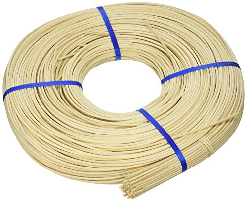 Commonwealth Basket Round Reed #4 2-3/4mm 1-Pound Coil, Approximately 500-Feet (Reed Basket)