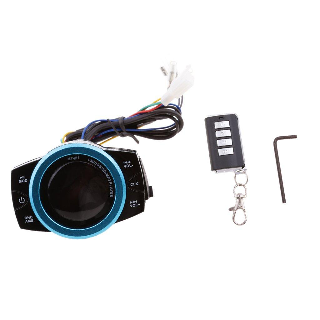 MonkeyJack Motorcycle speakers Anti-theft Audio Radio System Stereo FM/TF/USB/SD/MP3