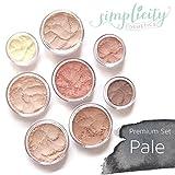 Mineral Makeup Premium Set - Pale | Blush | Foundation | Sheer Powder | Eyeshadow | Bronzer | Under Eye Concealer | Starter Set
