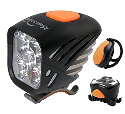 MagicShine MJ-906 5000 Lumens Wireless Remote Control Front/Tail Light Combo|Front Light 5xCREE XML LED|Tail Light XPE LED|The most durable, reliable and performing lights for mountain bike riders