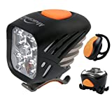 Magicshine MJ 906, High Grade MTB Enduro Bike Light Set, 5000 Lumens of Max output. Wireless Remote Bicycle Lights Front And Rear Combo, LED Bike Tail Light, Perfect Beam Pattern Bright Bike Light