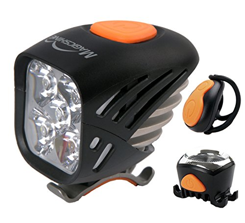 Magicshine MJ 906, High Grade MTB Enduro Bike Light Set, 5000 Lumens of Max Output. Bicycle Lights Front and Rear Combo with Remote. LED Bike Tail Light, Perfect Beam Pattern Bright Bike Light