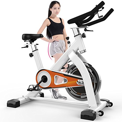 ColdcedarExercise Bike by Coldcedar | Indoor Cycling Bike Stationary Bicycle with Flywheel, Heart Rate, Water Bottle and Transport Wheels Cardio Health Home Workout Fitness Equipment