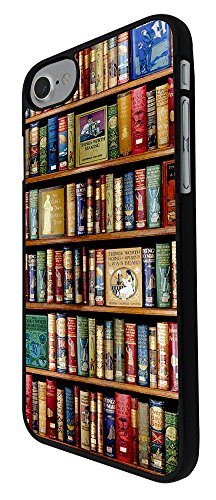 "000004 - Vintage Library Look Books Shelves Design iphone 7 Plus 5.5"" Hülle Fashion Trend Case Back Cover Metall und Kunststoff - Schwarz"