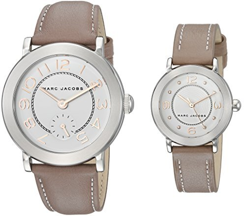 Marc Jacobs Women's 'Riley' Quartz Stainless Steel and Leather Casual Watch Color:Brown (Model: MJ9728) [並行輸入品] B078B8N9VR