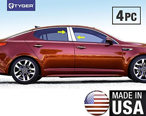 Made In USA! 2011-2015 Kia Optima 4PC Stainless Steel Chrome Pillar Post Trim