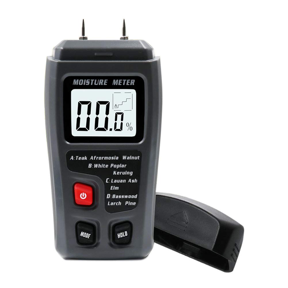 0-99,9/%, para Madera o Materiales de construcci/ón con Pantalla LCD Detector Digital de Humedad Wigxt EMT01