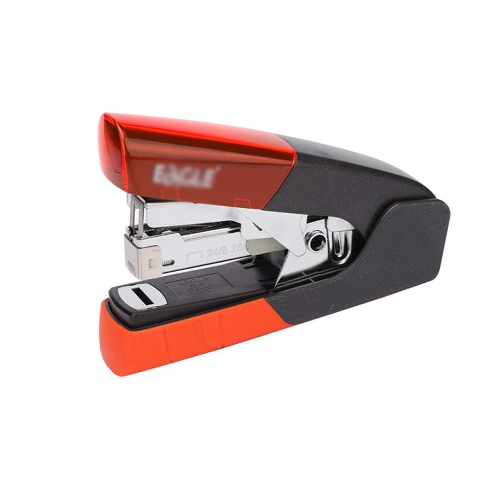 Stapler,Desk Stapler,Standard Stapler,Commercial Desk Stapler,One Finger, No Effort,Spring Powered Stapler,25 Sheet Capacity,Includes 5000 Staples AAA++ (Color : Orange) by HYXXQQ-stapler