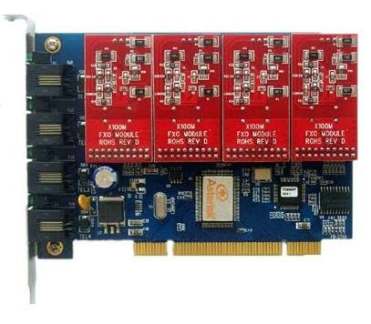 Tdm400p 4fxo PCI Analog Trixbox Asterisk - Pci Card 4fxo Analog
