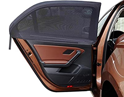 MDW 4 Pack Improved Version Adjustable Universal Fit Car Side Window Shade Baby Sun Shade,Fits Most Cars and SUVs Easy to Install (4 Contoured )