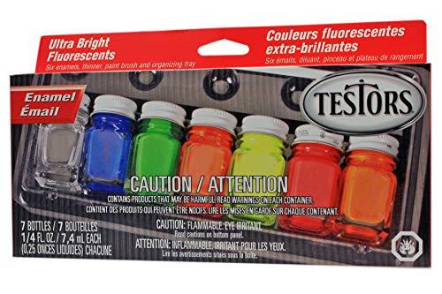 Testors Enamel Paint Set, 9132X, Fluorescent