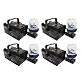 (4) CHAUVET HURRICANE H700 Fog/Smoke Pro Machines w/ Fog Fluid & Remote | H-700