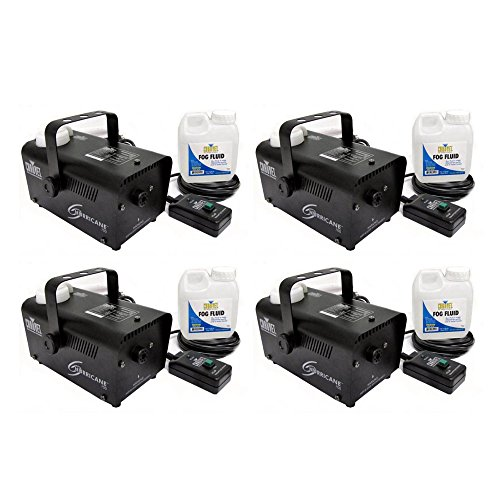(4) CHAUVET HURRICANE H700 Fog/Smoke Pro Machines w/ Fog Fluid & Remote | H-700 by CHAUVET DJ