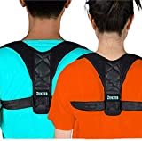 Upper Back Brace Posture Corrector for Women and Men - Adjustable, Breathable, Lightweight Shoulder Support to avoid Slouching/Hunching, Relieve Muscle Pain, Improve Bad Posture, Feel Instant Relief