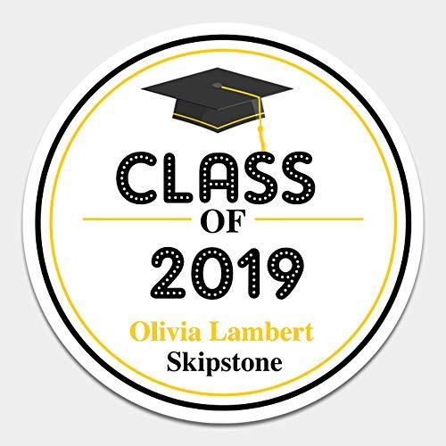 20 Personalized Graduation Envelope Seals - Class of 2019 Party Favor Label Sticker (Grad6)