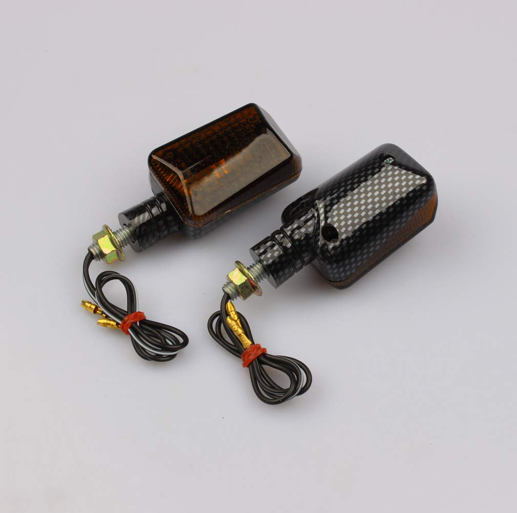 Motorrad Mini Blinker carbon look kurz get/önt UNIVERSAL Halogen 12V 23W