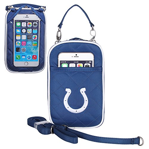 - Charm14 NFL Indianapolis Colts Women's Crossbody Bag Quilt-Embroidered Logo-Fits All Phones by Little Earth