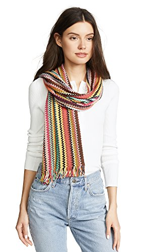 Missoni Women's Striped Scarf, Multi Red/Lime, One Size by Missoni