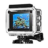 Cymas 4K WIFI Action Camera 20MP Ultra HD Waterproof Sports Cam with Sony Sensor 2-inch, 2 Batteries Action Cameras