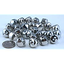 1/2 Inch 13mm Silver Small Jingle Bells Bulk 144 Pieces